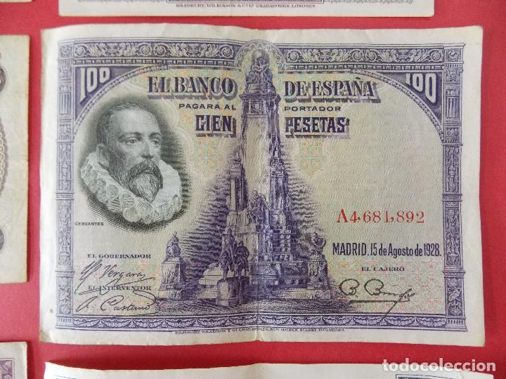 Billetes españoles: LOTE 6 BILLETES REPUBLICA ESPAÑOLA - 10 , 25, 50, 100 PESETAS - CALIDAD MBC - (VER FOTOS)... R-9230 - Foto 10 - 121338743