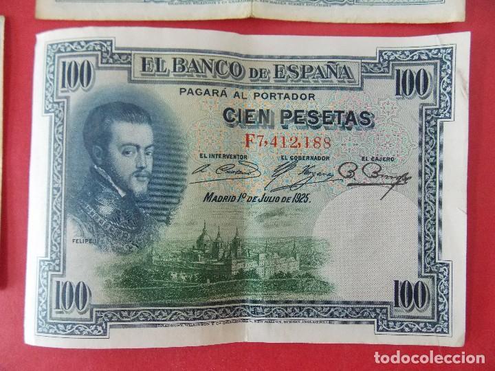 Billetes españoles: LOTE 6 BILLETES REPUBLICA ESPAÑOLA - 10 , 25, 50, 100 PESETAS - CALIDAD MBC - (VER FOTOS)... R-9230 - Foto 12 - 121338743