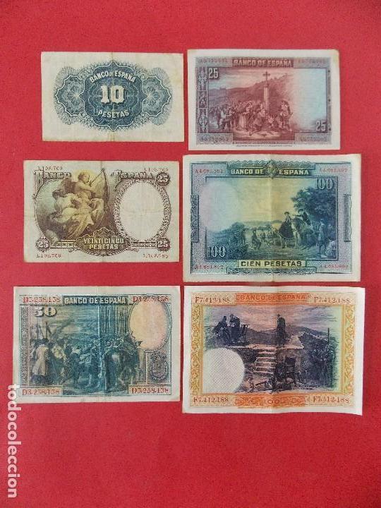 Billetes españoles: LOTE 6 BILLETES REPUBLICA ESPAÑOLA - 10 , 25, 50, 100 PESETAS - CALIDAD MBC - (VER FOTOS)... R-9230 - Foto 14 - 121338743