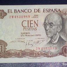 Billetes españoles: ESPAÑA BILLETE 100 PESETAS MANUEL DE FALLA 17 DE NOVIEMBRE 1970-PLANCHA-. Lote 212317888