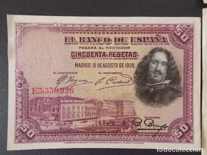 Billetes españoles: LOTE DE 4 BILLETES REPUBLICA ESPAÑOLA - CALIDAD MBC+ - VER 10 FOTOS.... R-9235 - Foto 5 - 121430087