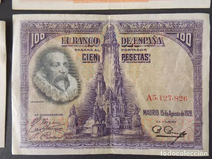 Billetes españoles: LOTE DE 4 BILLETES REPUBLICA ESPAÑOLA - CALIDAD MBC+ - VER 10 FOTOS.... R-9235 - Foto 9 - 121430087