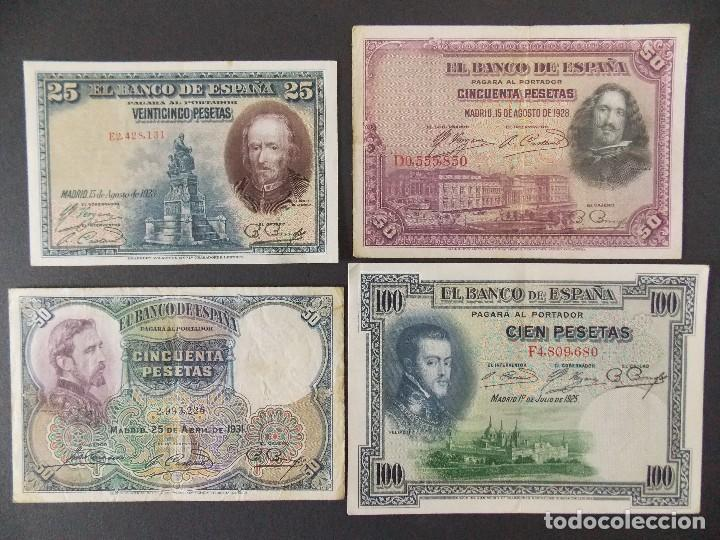 LOTE DE 4 BILLETES REPUBLICA ESPAÑOLA - CALIDAD MBC , VER 10 FOTOS.... R-9236 (Numismática - Notafilia - Billetes Españoles)