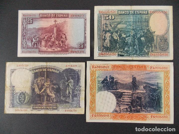 Billetes españoles: LOTE DE 4 BILLETES REPUBLICA ESPAÑOLA - CALIDAD MBC , VER 10 FOTOS.... R-9236 - Foto 2 - 121431155