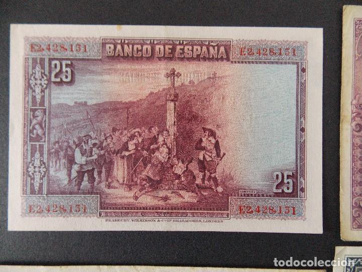 Billetes españoles: LOTE DE 4 BILLETES REPUBLICA ESPAÑOLA - CALIDAD MBC , VER 10 FOTOS.... R-9236 - Foto 4 - 121431155