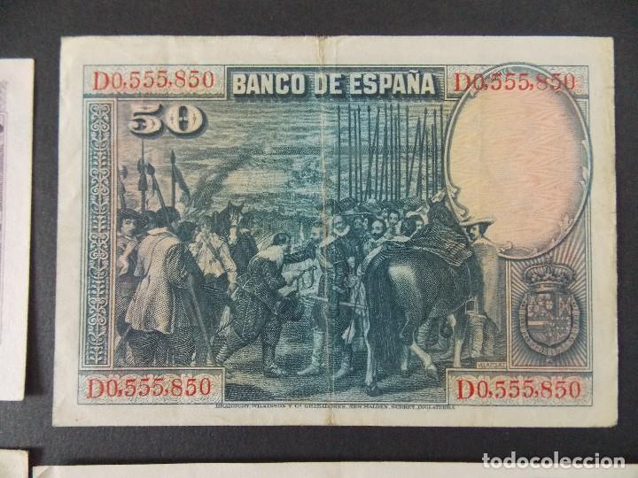 Billetes españoles: LOTE DE 4 BILLETES REPUBLICA ESPAÑOLA - CALIDAD MBC , VER 10 FOTOS.... R-9236 - Foto 6 - 121431155