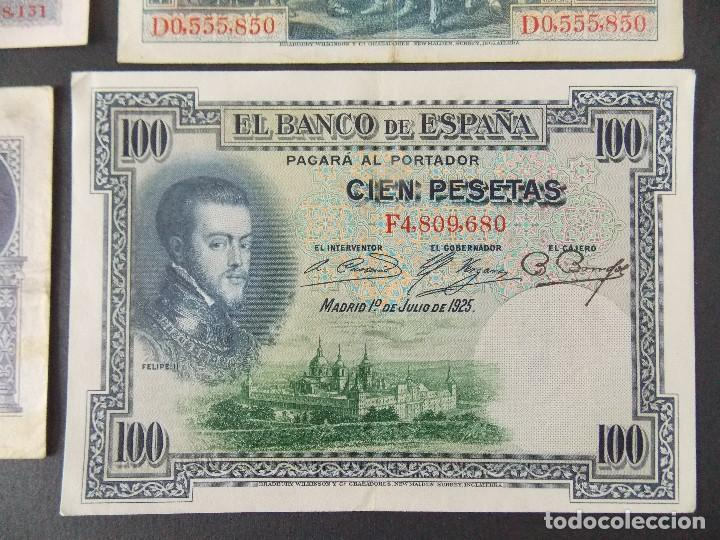 Billetes españoles: LOTE DE 4 BILLETES REPUBLICA ESPAÑOLA - CALIDAD MBC , VER 10 FOTOS.... R-9236 - Foto 7 - 121431155