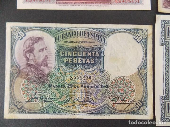 Billetes españoles: LOTE DE 4 BILLETES REPUBLICA ESPAÑOLA - CALIDAD MBC , VER 10 FOTOS.... R-9236 - Foto 9 - 121431155