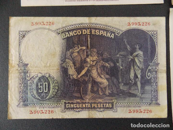 Billetes españoles: LOTE DE 4 BILLETES REPUBLICA ESPAÑOLA - CALIDAD MBC , VER 10 FOTOS.... R-9236 - Foto 10 - 121431155
