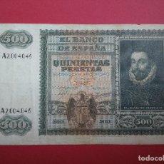 Billetes españoles: 500 PESETAS 9 DE ENERO DE 1940 JUAN DE AUSTRIA. Lote 121529451