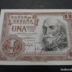 Billetes españoles: 1 PESETA BANCO DE ESPAÑA. AÑO 1953. SERIE W. ESTADO PLANCHA. Lote 121830083
