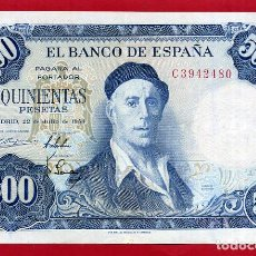 Billetes españoles: BILLETE 500 PESETAS 1954 , EBC , SERIE C , ORIGINAL , T480. Lote 121912359