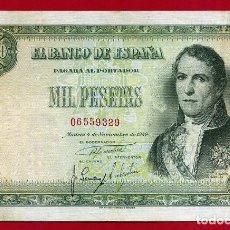 Billetes españoles: BILLETE 1000 PESETAS 1949 , EBC- , SIN SERIE , ORIGINAL , T329. Lote 121912679