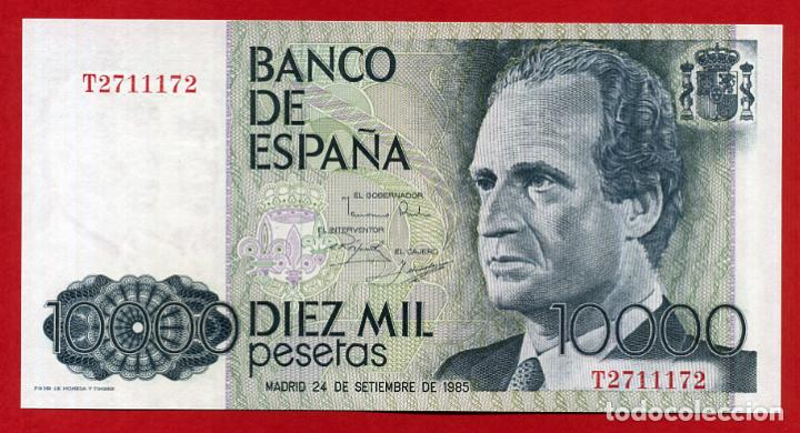 BILLETE 10000 PESETAS 1985 PLANCHA SERIE T CAPICUA ORIGINAL , T172 (Numismática - Notafilia - Billetes Españoles)