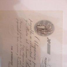 Billetes españoles: BILLETE 1835 16 PESOS DUROS CARLOS V TESORO REAL MADRID PLANCHA. Lote 122254315