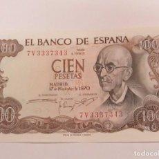 Billetes españoles: BILLETE DE 100 PESETAS DE 1970 - SIN CIRCULAR. Lote 123046107