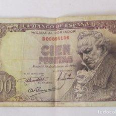 Billetes españoles: BILLETE DE 100 PESETAS DE 1946 (SERIE B). Lote 124206055