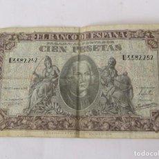 Billetes españoles: BILLETE DE 100 PESETAS DE 1940 (SERIE B). Lote 124206407