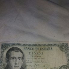 Billetes españoles: CINCO PESETAS DEL 16 DE AGOSTO DE1951. Lote 126593502