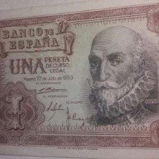 Billetes españoles: UNA PESETA DEL 22 DE JULIO DE 1953. Lote 126594450