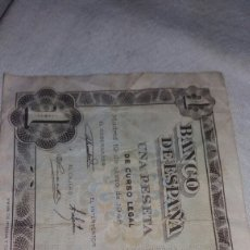 Billetes españoles: UNA PESETA DEL 19 DE JUNIO DE 1948. Lote 126687831
