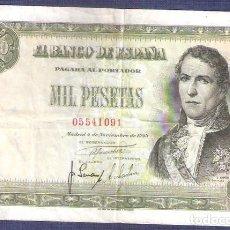 Billetes españoles: 1000 PESETAS DE 1949 . Lote 126700535