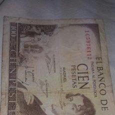 Billetes españoles: CIEN PESETAS EMISIÓN DEL 19 DE NOVIEMBRE DE 1965. Lote 126722812