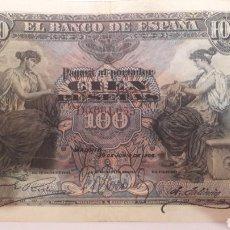 Billetes españoles: ESPAÑA 1906 100 PESETAS ALFONSO XIII SERIE D. Lote 126731200