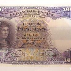 Billetes españoles: BILLETE 1931 100 PESETAS. Lote 126731355