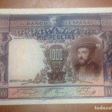 Billetes españoles: C.R. 1000 PESETAS. MADRID 1925. SIN SERIE. MBC+. Lote 127110454