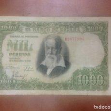 Billetes españoles: C.R. 1000 PESETAS. MADRID 1951. SERIE B. MBC. Lote 127115643