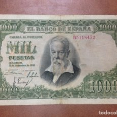 Billetes españoles: C.R. 1000 PESETAS. MADRID 1951. SERIE B. BC+. Lote 127198052