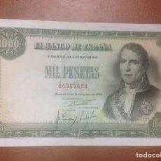 Billetes españoles: C.R. 1000 PESETAS. MADRID 1949. SIN SERIE. MBC. Lote 127207832
