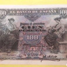 Billetes españoles: ESPAÑA 1906 100 PTAS ALFONSO XIII SERIE D. Lote 127231214