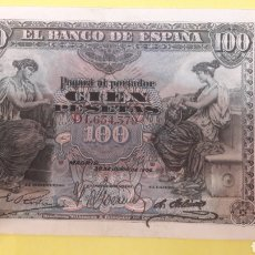 Billetes españoles: ESPAÑA 1906 100 PTAS SERIE D. Lote 127231759