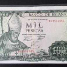 Billetes españoles: BILLETE 1000 PESETAS 1965 CASI SC ENVÍO GRATIS. Lote 127544902