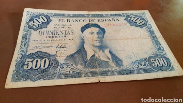 BILLETE 500 PESETAS 1954 SERIE L (Numismática - Notafilia - Billetes Españoles)