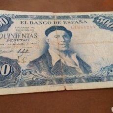 Billetes españoles: BILLETE 500 PESETAS 1954 SERIE L. Lote 127581402