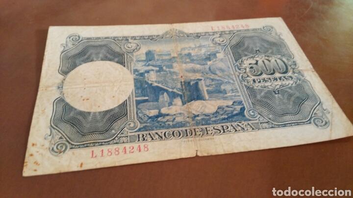 Billetes españoles: Billete 500 pesetas 1954 serie L - Foto 2 - 127581402