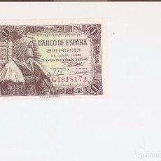 Billetes españoles: PRECIOSO BILLETE 1 PESETA DE 1945 EL DE LAS FOTOS VER TODOS MIS LOTES DE BILLETES. Lote 127821443
