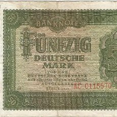 Billetes españoles: ALEMANIA DEMOCRÁTICA - GERMANY DEMOCRÁTIC 50 MARK 1948 PICK 14B. Lote 127886887