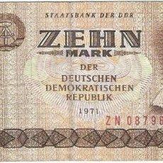 Billetes españoles: ALEMANIA DEMOCRÁTICA - GERMANY DEMOCRÁTIC 10 MARK 1971 REPLACEMENT ZN PICK 28B.R. Lote 127887627