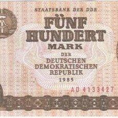 Billetes españoles: ALEMANIA DEMOCRÁTICA - GERMANY DEMOCRÁTIC 500 MARK 1985 PICK 33 SIN CIRCULAR. Lote 127888591
