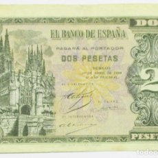 Billetes españoles: BILLETE DE 2 PESETAS DE 30 DE ABRIL DE 1938. BURGOS, SERIE F. LOTE 0775. Lote 127904499