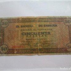 Billetes españoles: BILLETE * 50 PESETAS 20 DE MAYO DE 1938 * BURGOS. Lote 127969411