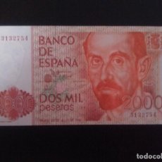 Billetes españoles: BILLETE DE 2000 PESETAS DE 1980 . OJO SIN SERIE Y SIN CIRCULAR ... .. ES EL DE LAS FOTOS. Lote 128118151