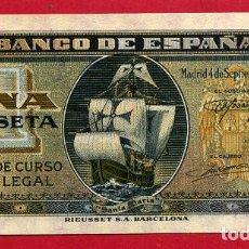 Billetes españoles: BILLETE 1 PESETA SEPTIEMBRE 1940 , PLANCHA , SERIE A , ORIGINAL , T595. Lote 128134391