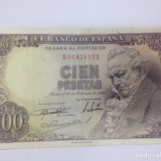 Billetes españoles: C.R. 100 PESETAS 1946. MBC+. Lote 128324215