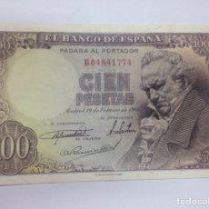 Billetes españoles: C.R. 100 PESETAS 1946. EBC. Lote 128326891