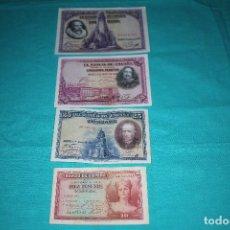 Billetes españoles: ESPAÑA LOTE CUATRO BILLETES DE 100-50-25 Y 10 PESETAS. Lote 128577079